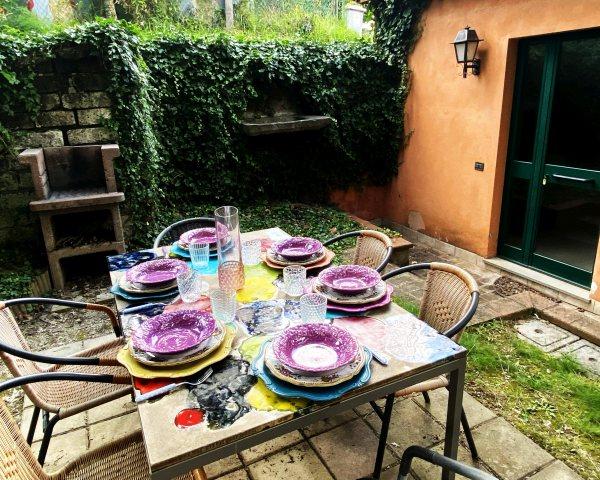 Giardino appartamento agriturismo Umbria